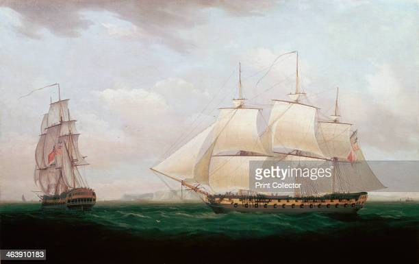 'Two East Indiamen off a Coast' Thomas Whitcombe c1850 At this time the East India Company still governed India The company was founded in 1600 to...