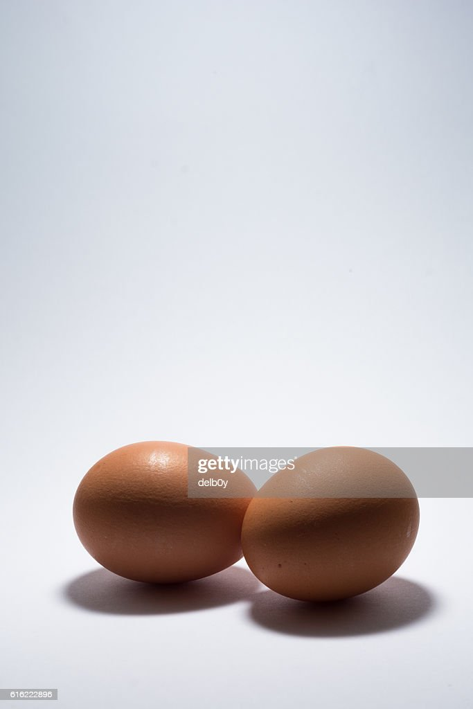 Due uova  : Foto stock