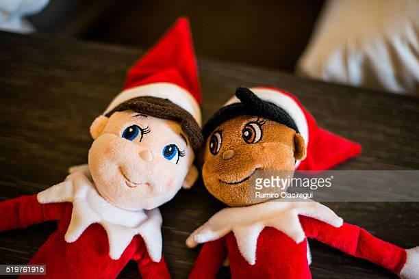 two elves. - preconceito racial imagens e fotografias de stock