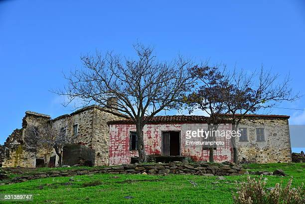 two empty houses in the village - emreturanphoto stock pictures, royalty-free photos & images