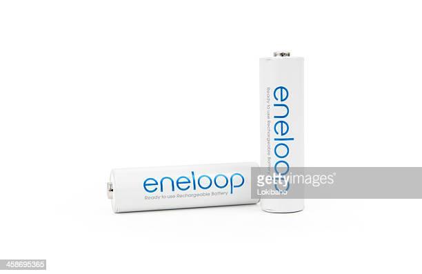 Two Eneloop Rechargeable AA Batteries