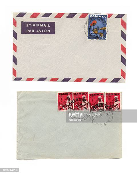 Two envelopes with Zambia cancelled stamps