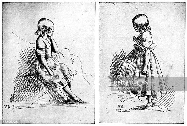 Two etchings by Queen Victoria 1840