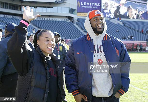 Two Famous were on the sidelines Dawn Staley and Donovan McNabb to see the Temple Owls defeat the Syracuse Orange 34 to 24 at Lincoln Financial Field...