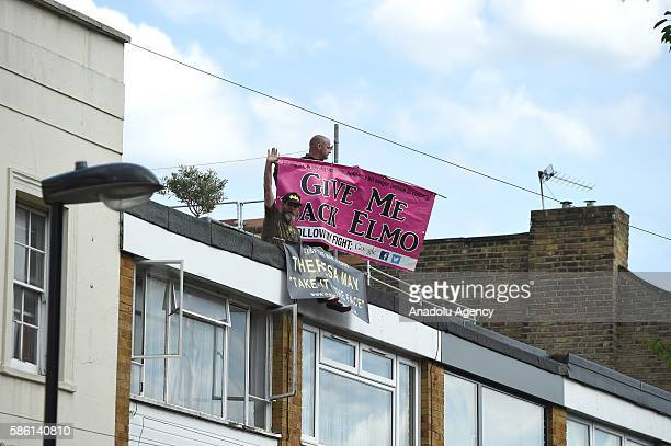 Two fathers, member of Fathers for Justice, climb Labour Party Leader, Jeremy Corbyn's House roof to demand Government's support due to difficulty in...