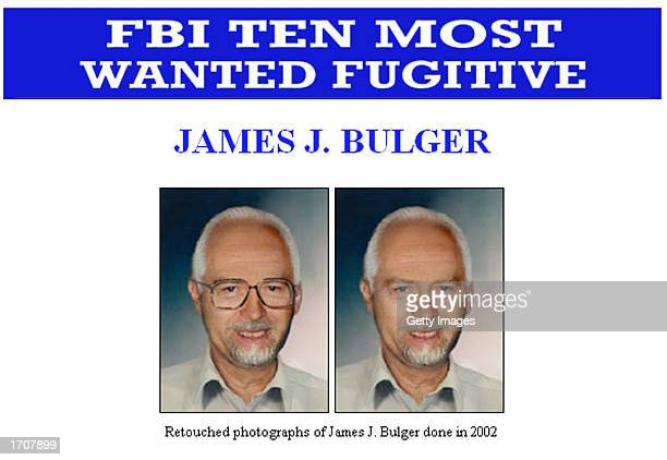 "Two Federal Bureau of Investigation artist composite images of fugitive James ""Whitey"" Bulger are shown in this handout photo released by the FBI..."