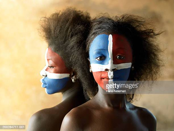 Two female dancers (10-15) wearing face paint