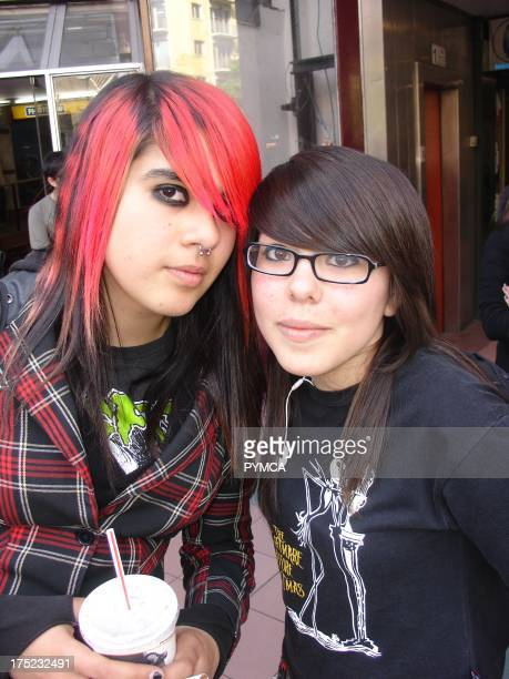 Two female Emo friends Santiago 2007