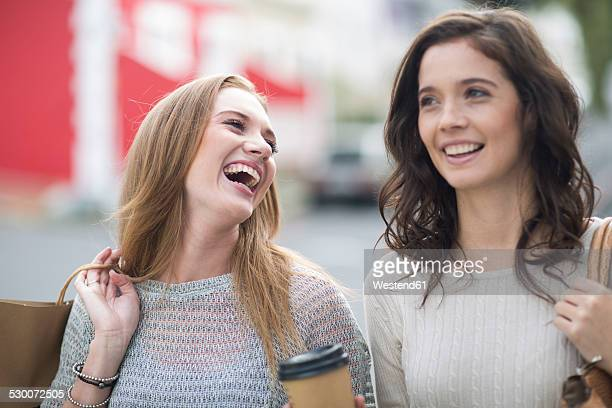 Two female friends on shopping tour
