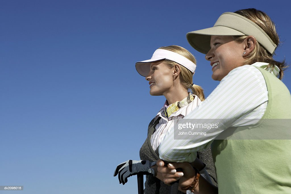 Two Female Golf Players : Stock Photo