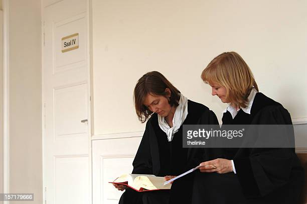 two female judges - judge law stock pictures, royalty-free photos & images
