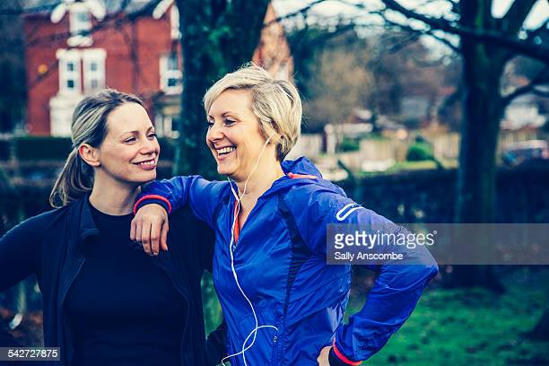 Two female runners