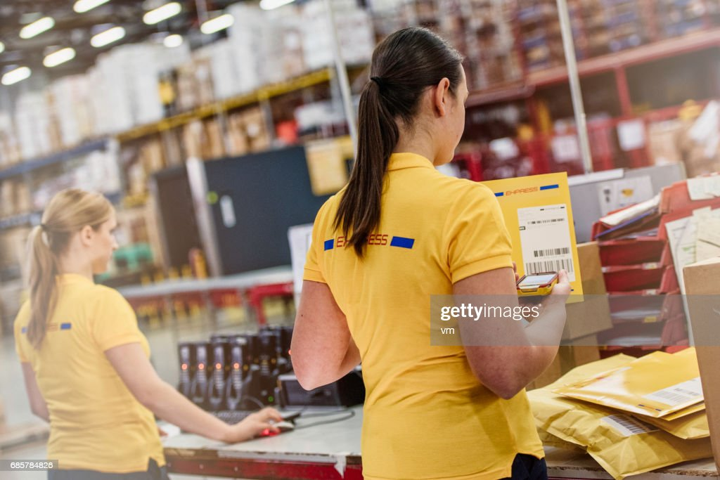 Two female warehouse workers : Stock Photo