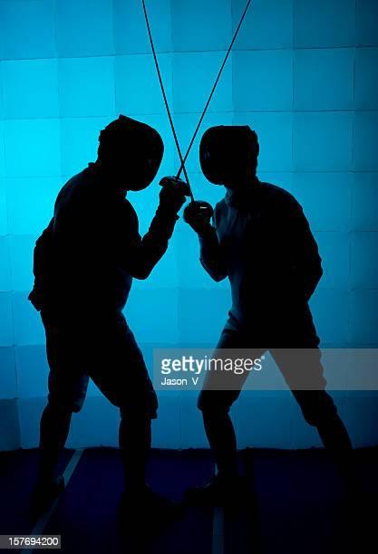 Dos Fencers silueta