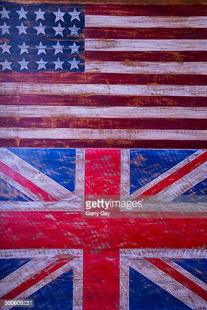 Two flags American and British