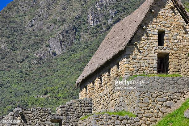 Two floor Storehouse (Collca) in Machu Picchu