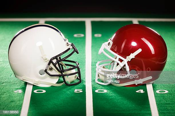 Two Football Helmets