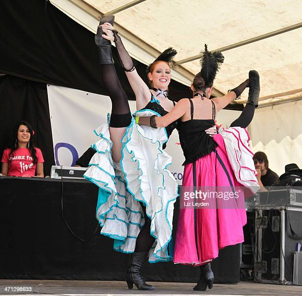 Two 'French Fling' dancers; Moulin-Rouge style Can-can dance.