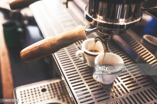 two fresh, hot and strong cups coming right up - zoom background stock pictures, royalty-free photos & images