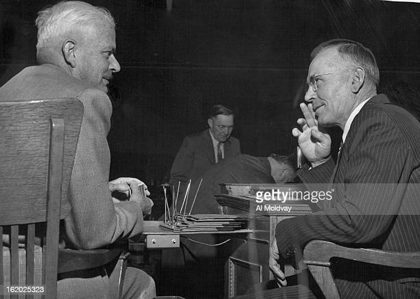 JAN 5 1955 Two freshmen senators compare notes George Wilson of Nucla and Clarence B Hocker of Monte Vista