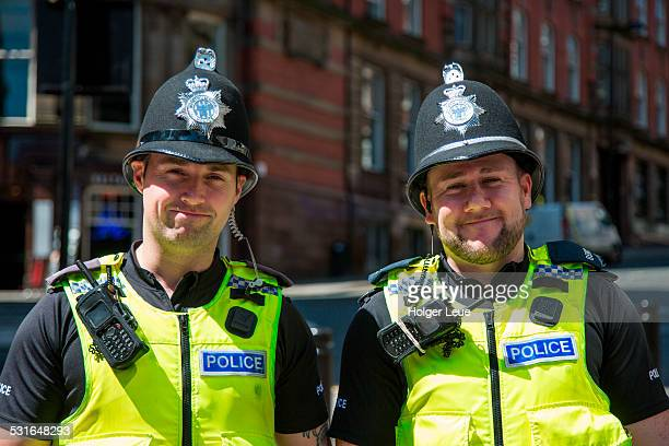 Two friendly police officers