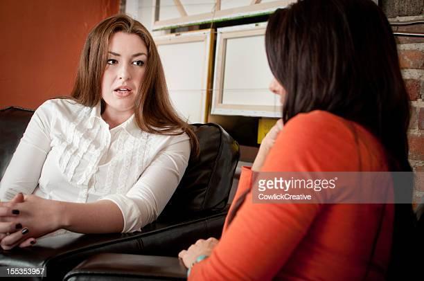 Two Friends Having Conversation