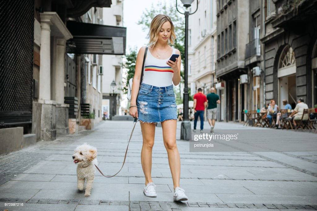 Two friends in relaxing walk : Stock Photo