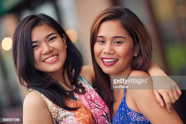 Two friends portrait