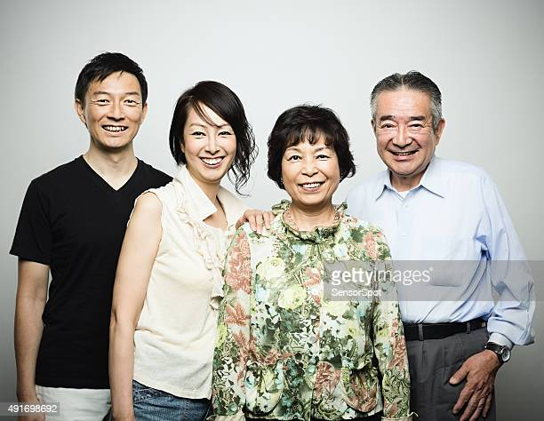 Two generation japanese family