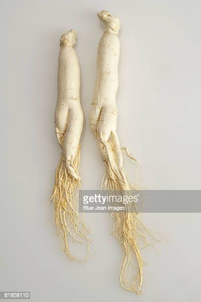 Two ginseng roots