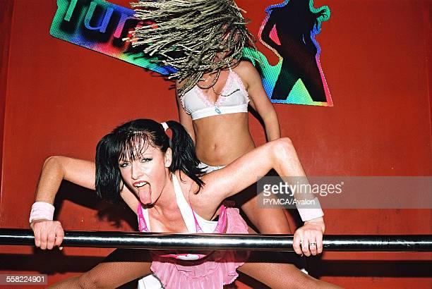Two girls dirty dancing at Funktup December 2004
