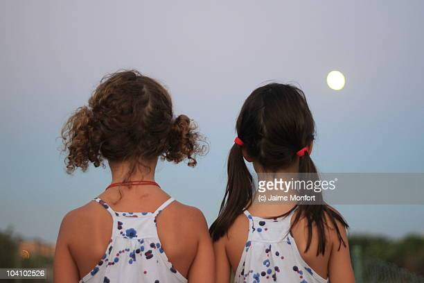 Two girls in a summer night