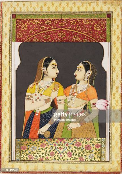Two girls in an archway with a curtain 19th century Dimensions height x width mount 554 x 403 cmheight x width page 403 x 286 cmheight x width...