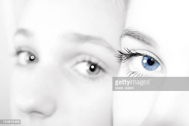 two girls in high key