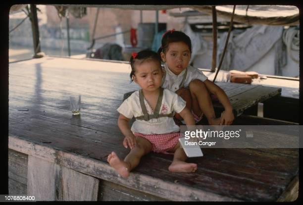 Two Girls in Huaian China