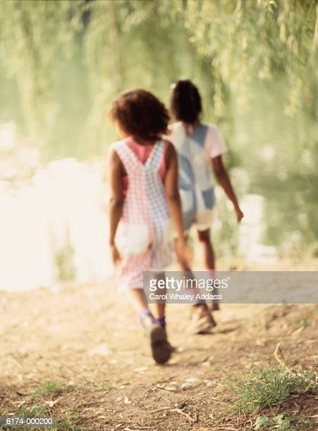 Two Girls in Park