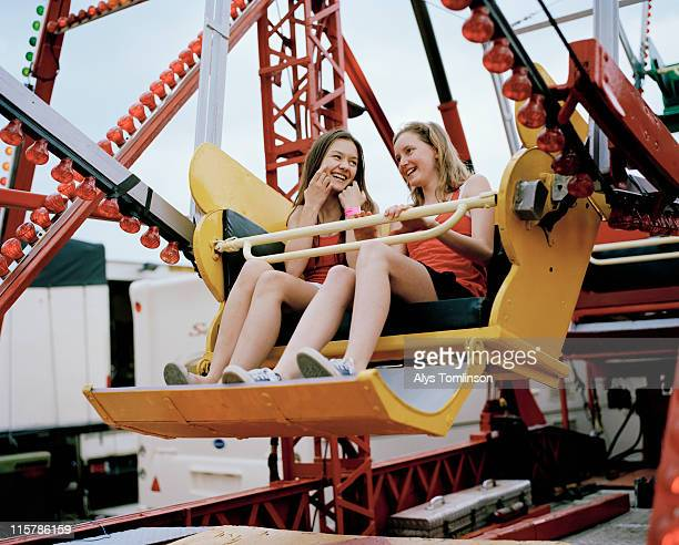 Two Girls on a Ferris Wheel