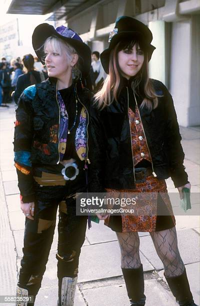 Two girls psychedelic revival clothing UK 1980
