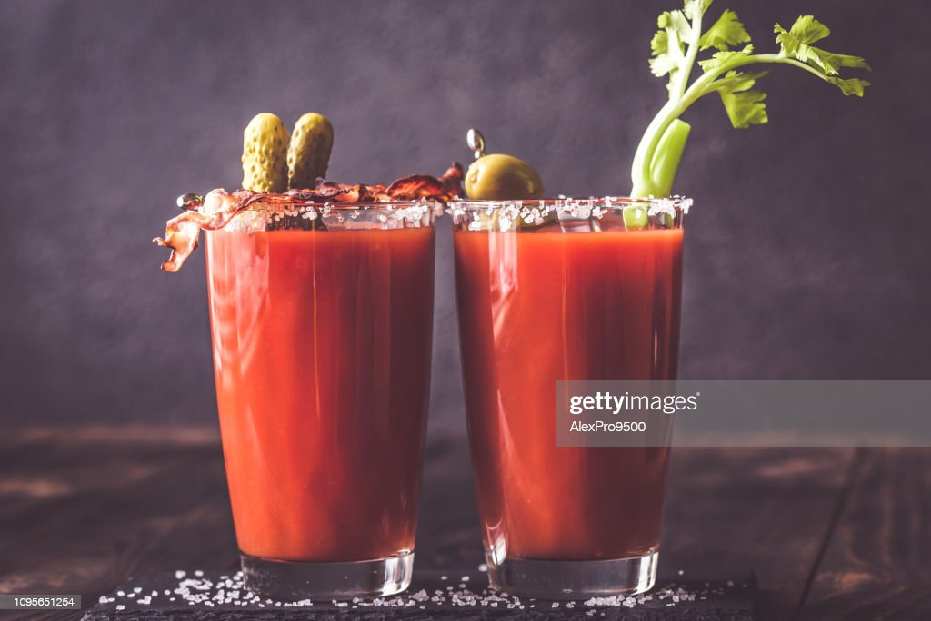 Two glasses of Bloody Mary : Stock Photo