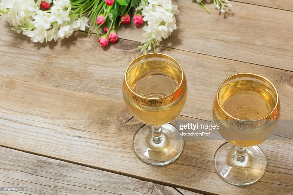 Two glasses of white wine and flowers stock photo getty images two glasses of white wine and flowers stock photo mightylinksfo