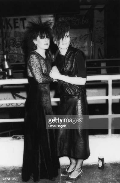 Two goths at the Batcave club in Soho London 1984