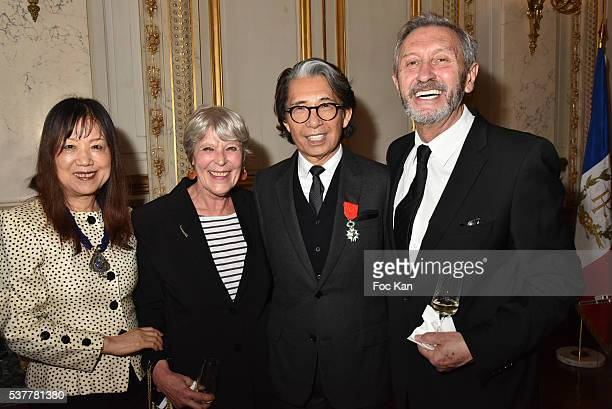 Two guests Kenzo Takada and Angelo Tarlazzi attend as Kenzo Takada receives the Medal of Chevalier de La Legion d'Honneur at Conseil Constitutionnel...