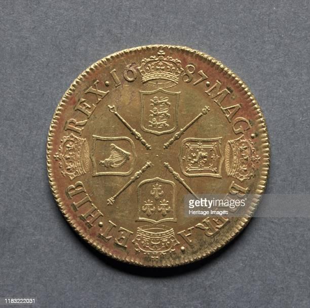 Two Guineas 1687 Creator John Sigismund Tanner