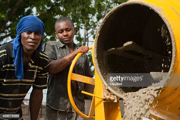 Two haitian construction workers
