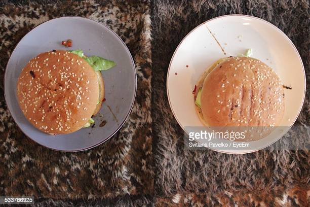 Two Hamburgers On Fur
