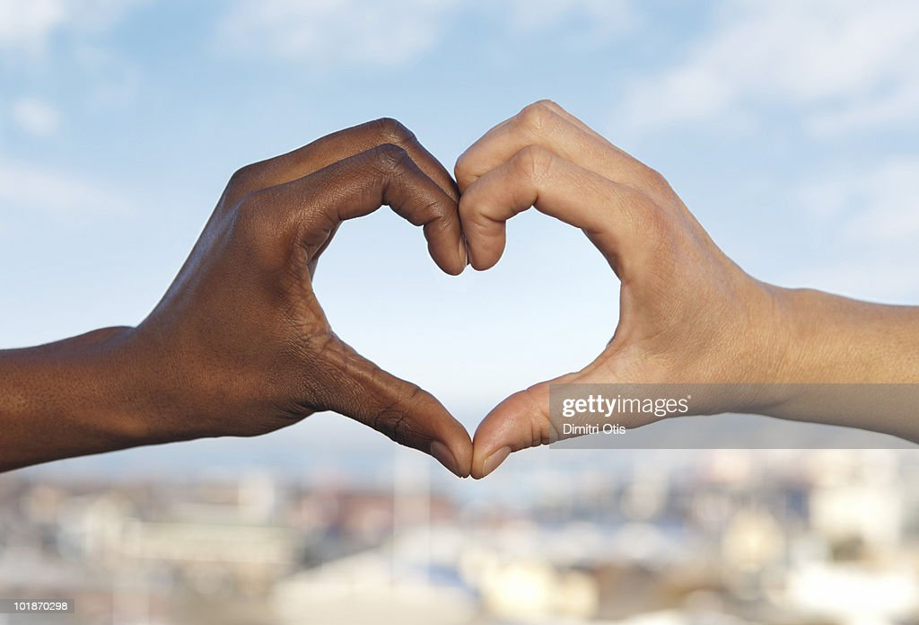 Two hands making a heart shape : Stock Photo