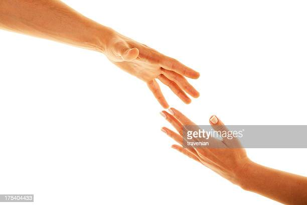 two hands trying to reach in the air - community engagement stock pictures, royalty-free photos & images