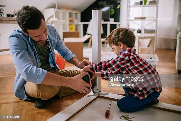 two handymen - diy stock pictures, royalty-free photos & images
