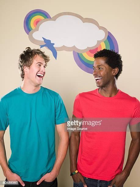 Two happy men