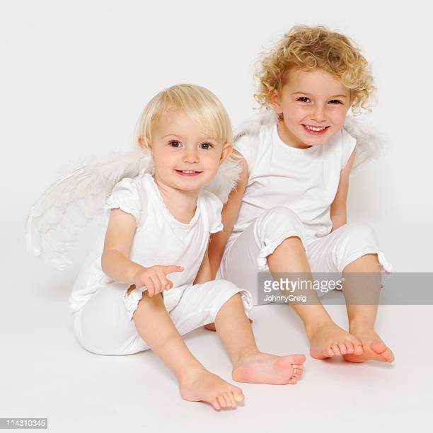 Two happy young angels